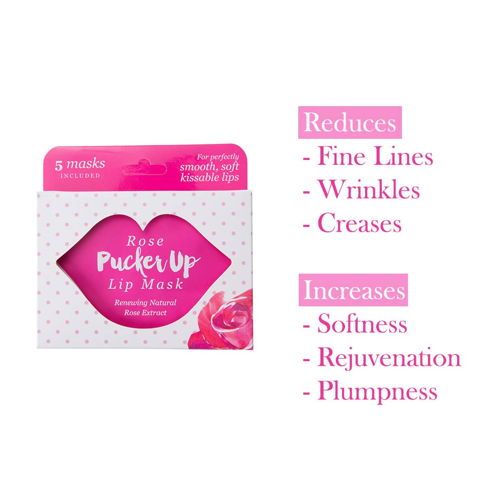 Pucker Up, Lip Mask, Skin Care, Balms Moisturizers – Set of 5, Rose
