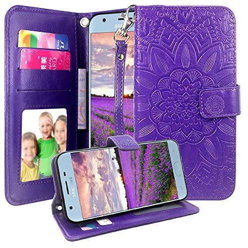 - Samsung Galaxy J3 2018 / J3 Orbit/Achieve/J3 Express Prime 3/J3 Prime 2/J3 Emerge 2018/Amp Prime 3/J3 Eclipse 2/Sol 3/J3 Aura/J3 Star Case, Harryshell Kickstand Flip PU Wallet Leather Case (Purple)