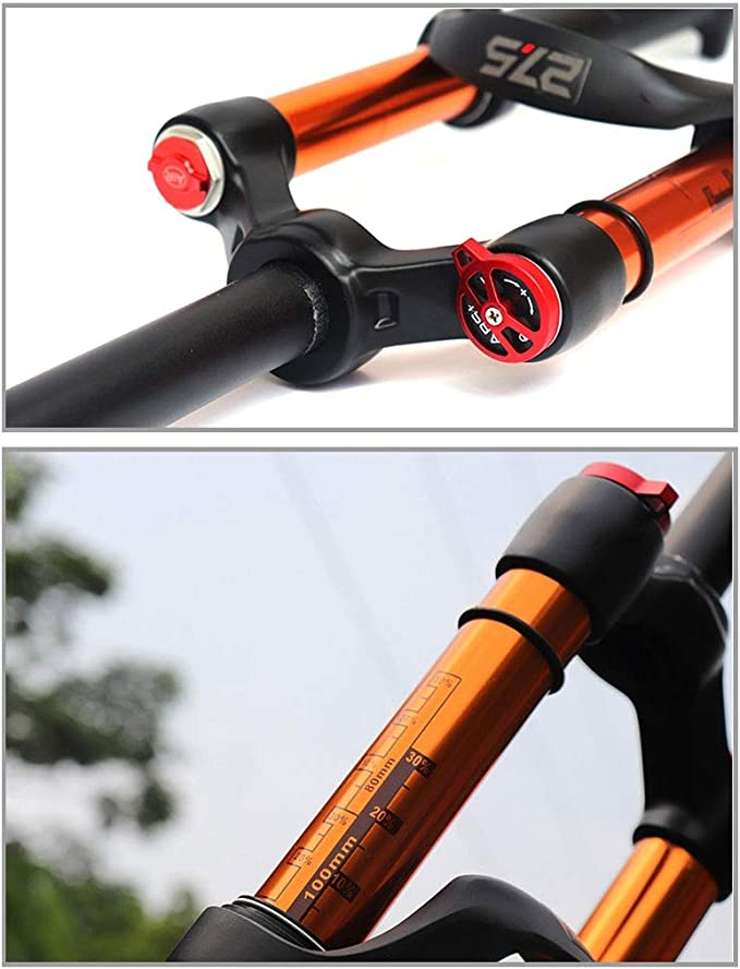 VHHV 26/27.5 Pulgadas Bicicleta de Montaña Horquilla de Suspensión ...