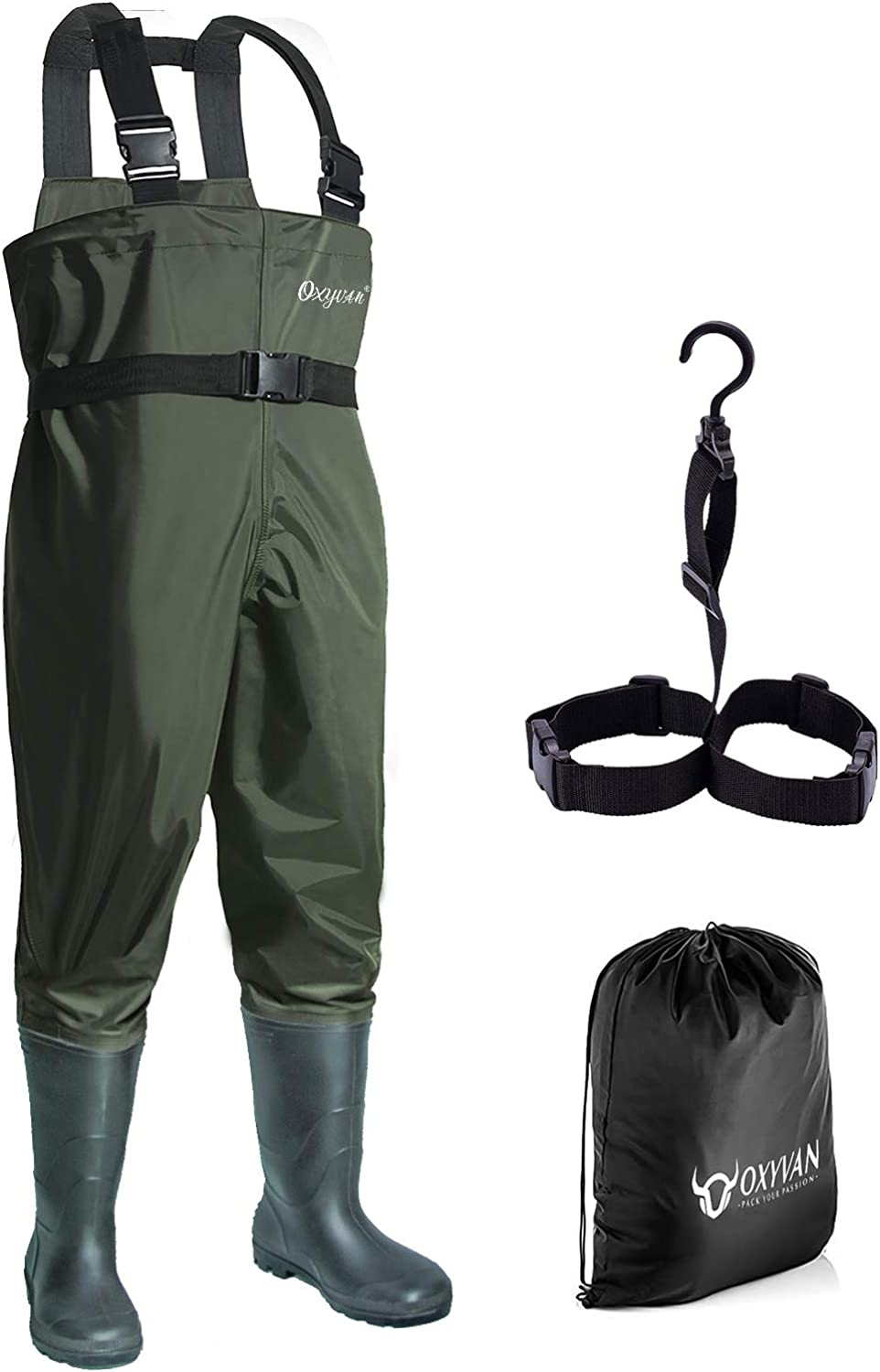 OXYVAN Waders Waterproof Lightweight Fishing Waders with Boots Bootfoot Hunting Chest Waders for Men Women : Sports & Outdoors