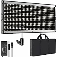 Neewer Dimmable Bi-color LED with U Bracket Professional Video Light for Studio, YouTube Outdoor Video Photography Lighting Kit, Durable Metal Frame, 960 LED Beads, 3200-5600K, CRI 95+