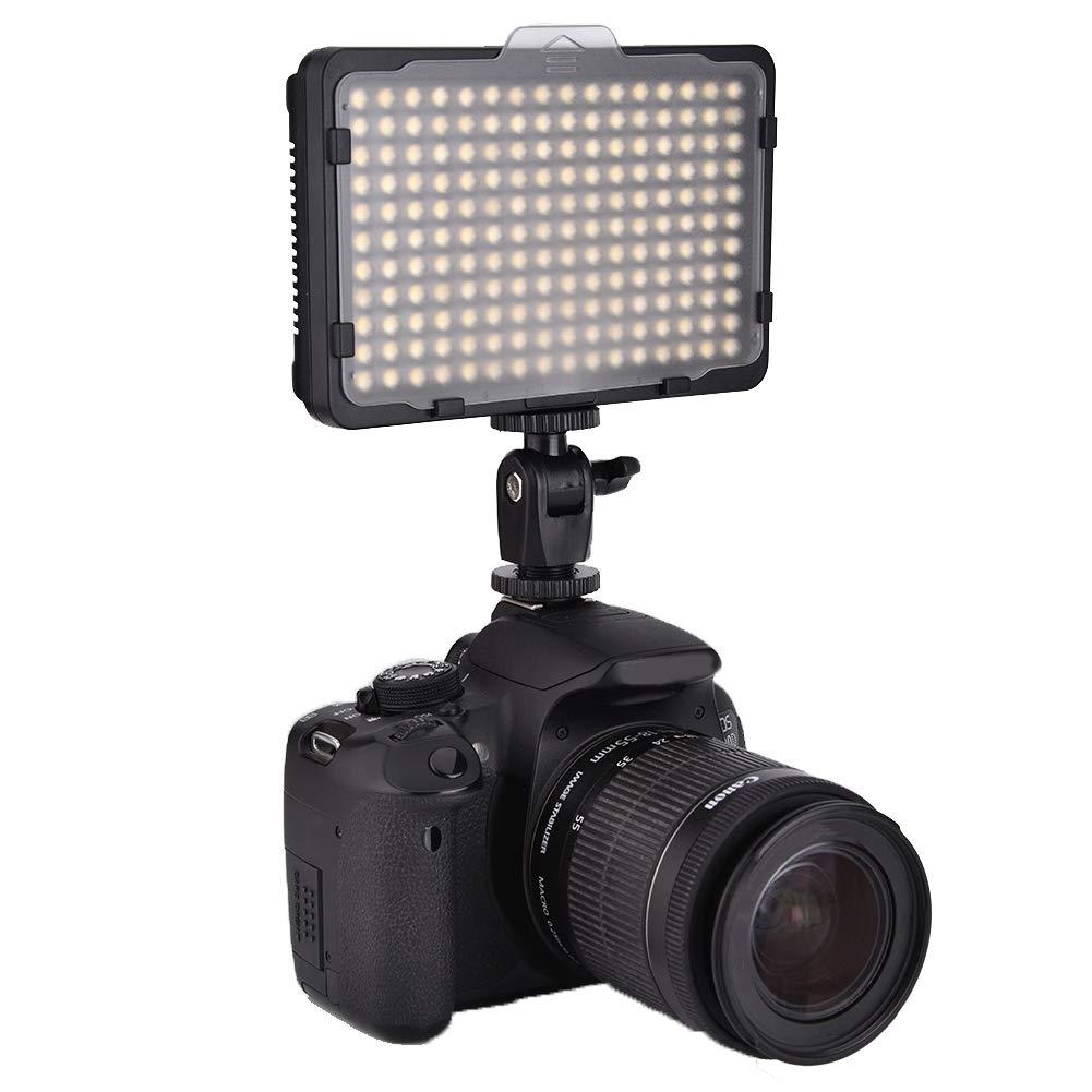 Temperatura de Color Variable de 3200k//5600k Cuentas LED Premium Tosuny Luz de Video LED de c/ámara Luz de fotograf/ía de Panel de luz LED port/átil para DSLR DV