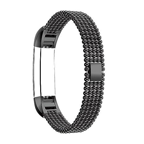 Bracelet pour Fitbit Alta Montre Connectees, Acier Fermeture Boucle Papillon Boucle Rosa Schleife® Remplacement