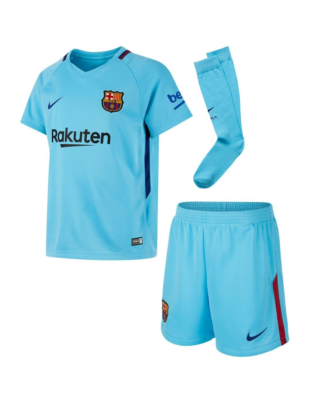 fb19f5ca3 Nike - Set of Children FC Barcelona Away 2017 - 2018 Breathe  Amazon.co.uk   Sports   Outdoors