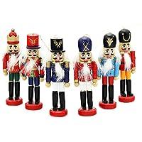 6 piezas por juego Decoraciones de Navidad Cascanueces