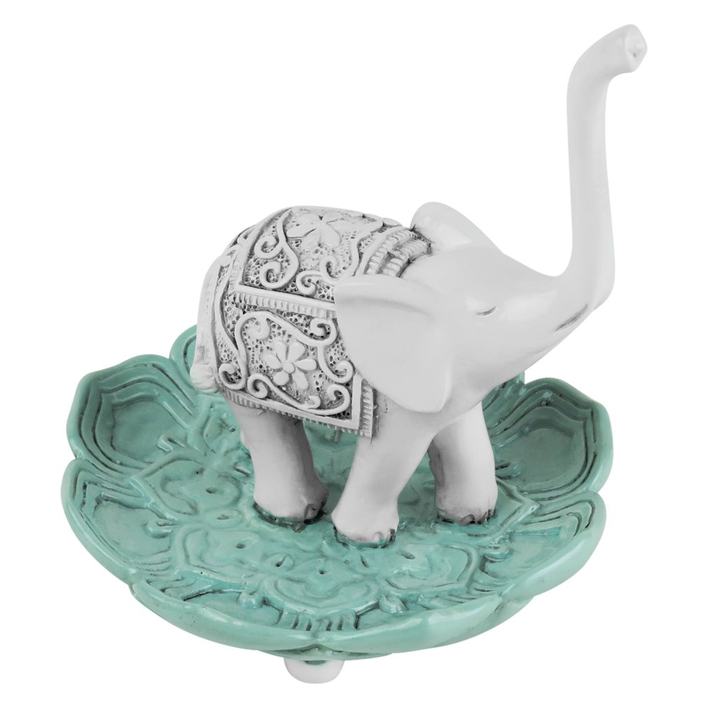 Evelots Elegant Good Luck Elephant Jewelry Ring Holder, Jewelry Stand by Evelots (Image #5)
