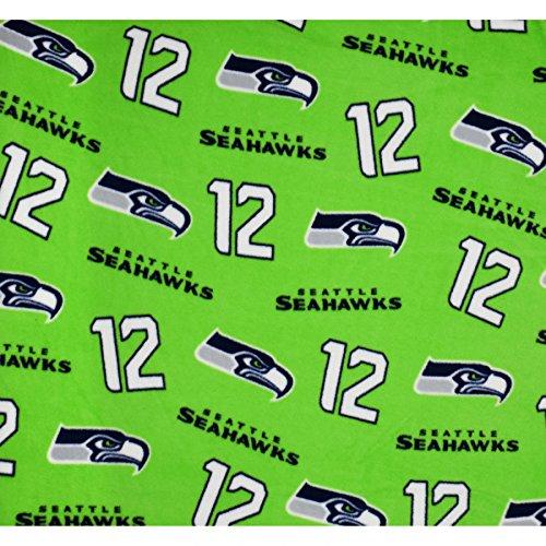 NFL Seattle Seahawks The 12s in Green Fleece Fabric - 2 yards