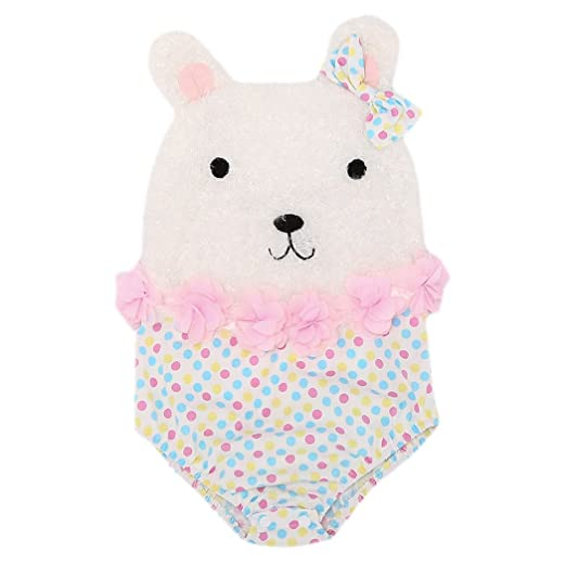 3dc7fef2e6a XWDA Baby Girl Clothes Fuzzy Bear Bodysuit Romper Jumpsuit One-Pieces  Outfits Set (70