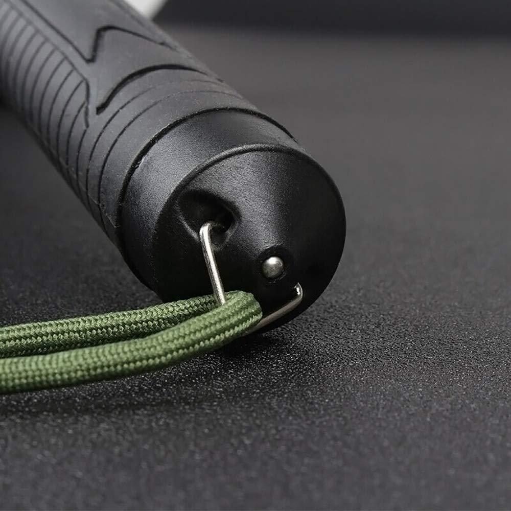 bast/ón de Seguridad Negro, S:55CM Bastones de Bastones Ajustables ZMMA Seccionador telesc/ópico de Seguridad de Tres Secciones Dispositivo de autoprotecci/ón para Actividades de Senderismo