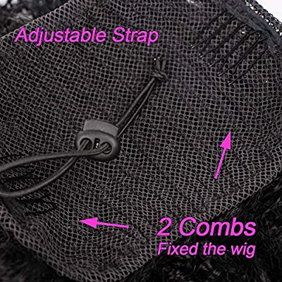 Synthetic Ponytail Afro Puff Kinky Curly Drawstring Ponytail for Black Women African American Updo Hairpiece Bun