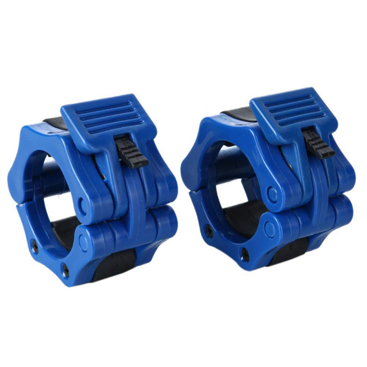 Queenbox 2pcs Barbell Clamp Collar Clips Clamp Gym Training 30mm, Deep Blue