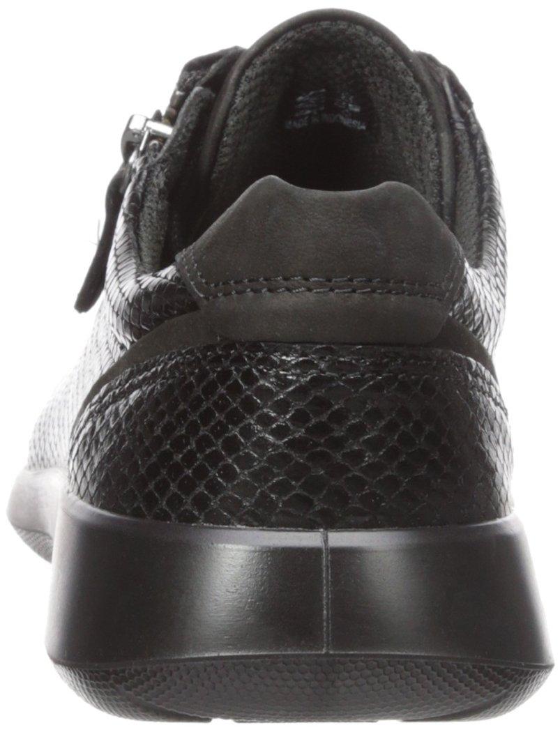 ECCO Women's Soft 5 Side Zip Fashion Sneaker B01M8MHDHE 39 EU / 8-8.5 US|Black/Black