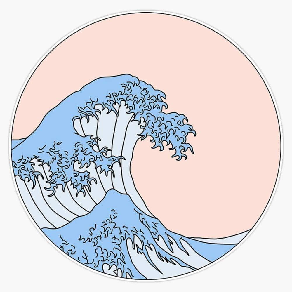 """Great Wave Vinyl Waterproof Sticker Decal Car Laptop Wall Window Bumper Sticker 5"""""""
