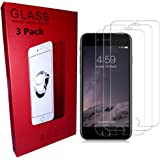 iPhone 7 6S 6 Plus Screen Protector, Tempered Glass Screen Protector for Apple iPhone 7 Plus, iPhone 6S Plus, iPhone 6 Plus [5.5 inch] [3-Pack]