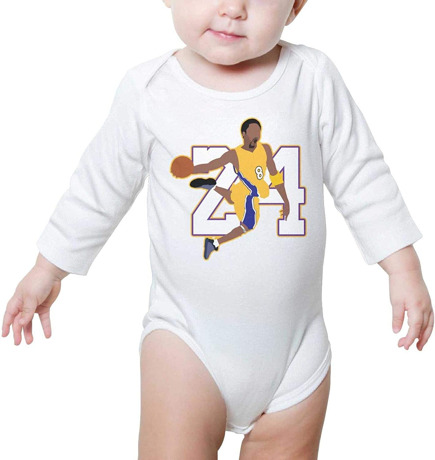 Boy//Girls Romper Bodysuit for Newborn Baby Onesies 24 Legend Basketball Player Long Sleeve Romper Jumpsuit