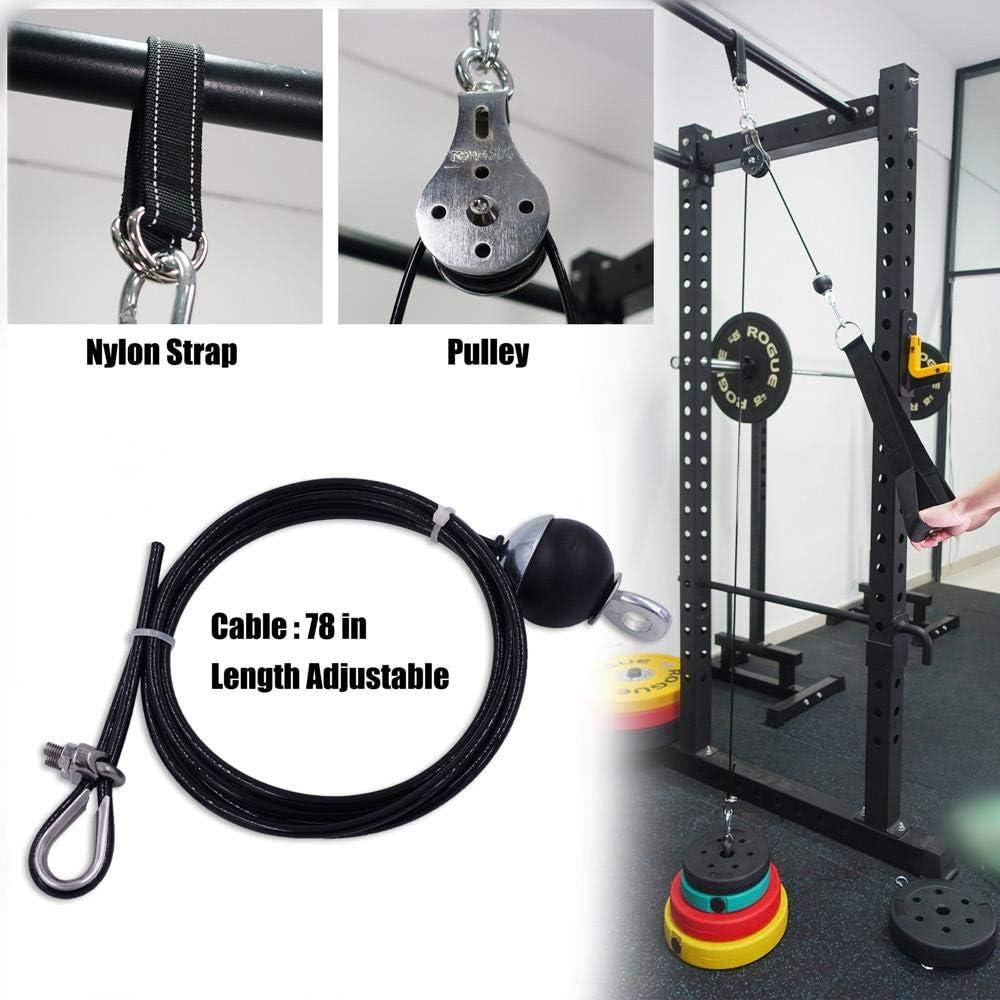 WXG Fitness Riemenscheibe Kabel Heben Trizeps Seil Maschine Training einstellbare L/änge Wohnaccessoires Set A.