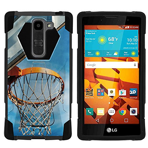 LG Volt 2 LS751 Case, Hard Rugged SHOCK Impact Case Kickstand - Basketball Sports Collection - for LG Volt 2 LS751 from Boost Mobile by MINITURTLE - Basketball Hoop