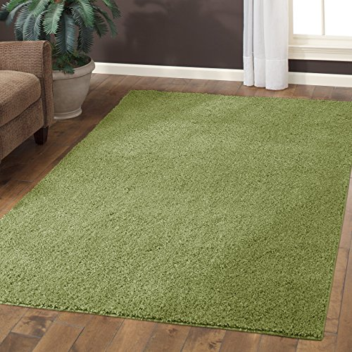Maples Rugs Kitchen Rug - Catriona 2.5 x 4 Non Skid Small Accent Throw Rugs [Made in USA] for Entryway and Bedroom, 2'6 x 3'10, Moss Green ()