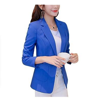 Aisuper - Chaqueta de traje - Manga Larga - para mujer 6e6050bd3f18