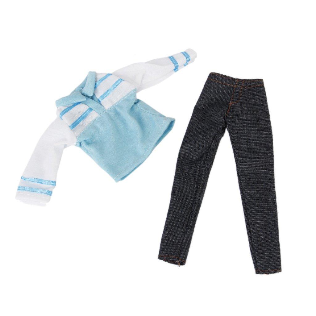 Puppenkleidung Puppen Lässige Kleidung Langarm T-Shirt und Hose  Amazon.de   Spielzeug 320db04990