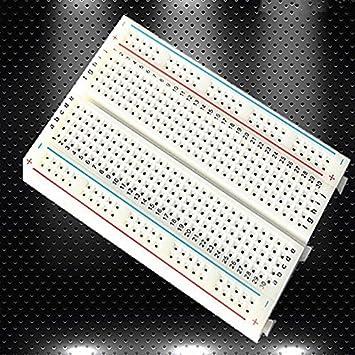 400 Tie Puntos placa de pruebas sin soldadura PCB placa de pruebas Breadboard Circuito de prueba para Arduino: Amazon.es: Electrónica
