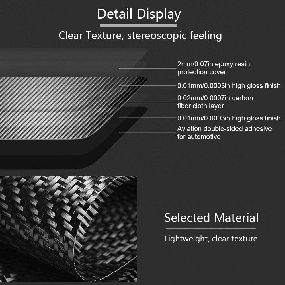 Carbonfaser Mittelkonsolenabdeckung Auto Center Console Dekorativer Aufkleber Gorgeri Car Center Konsolenverkleidung