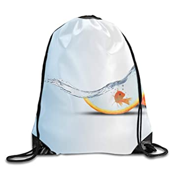 gthytjhv Mochila con cordón Naranja para Guardar golosinas, Bolsa de Gimnasio Promocional para Fiesta de