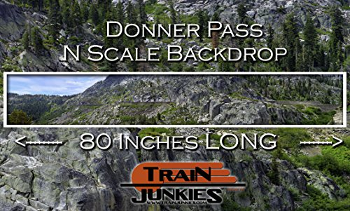Train Junkies Donner Pass - Railroad Backdrop N Scale, used for sale  Delivered anywhere in USA