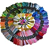 DANGSHAN Cross Stitch Floss Premium Rainbow Color Embroidery Floss Sewing ...
