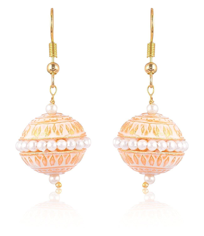 Subharpit Golden Color Pearl Golden Color Metal Non Precious Indian Ethnic Tratitional Drop
