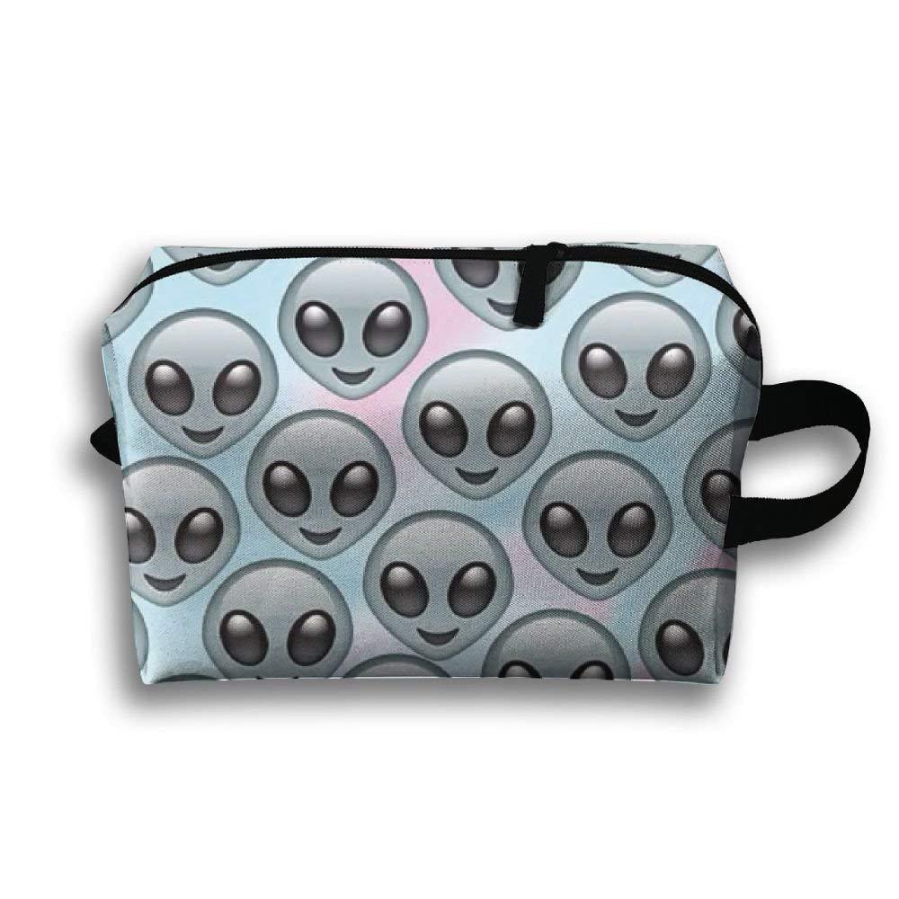 Bolso tur/ístico unisex Bolso de maquillaje de viaje multifunci/ón extraterrestre divertido con cremallera Bolsos de bolsa de cosm/éticos