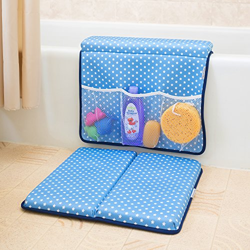 Strictly Stuff Baby Bath Kneeler and Elbow Pad (Pink). Thick, Soft Knee Padding. Durable Neoprene Material and Design. Non-Slip Backing with Suction Cups. Fits All tubs. Three Great Color Patterns. by Strictly Stuff (Image #2)
