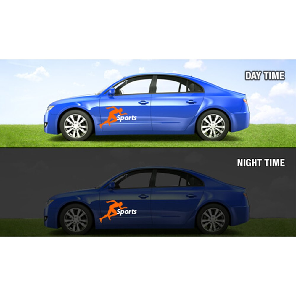 Amazon com custom reflective car decals stickers 1 x 1 ft office products