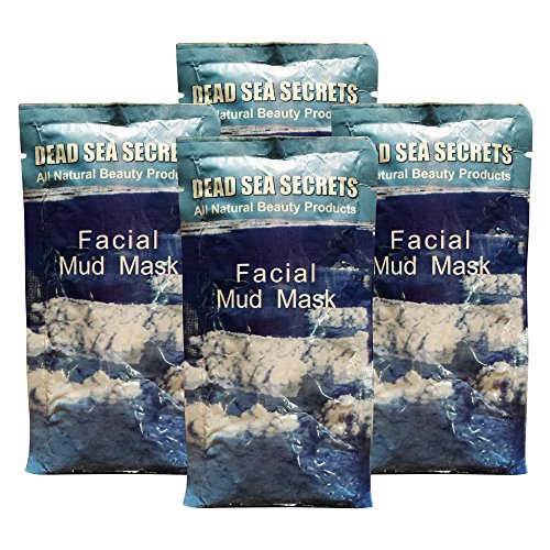 Price comparison product image Premier Dead Sea Mud Mask, 4 Pack, Authentic from Israel Natural Organic Spa Quality Skin Care Mud and Minerals, Excellent for Acne Blemishes Eczema Psoriasis, Fantastic Anti Aging Firming and Lifting
