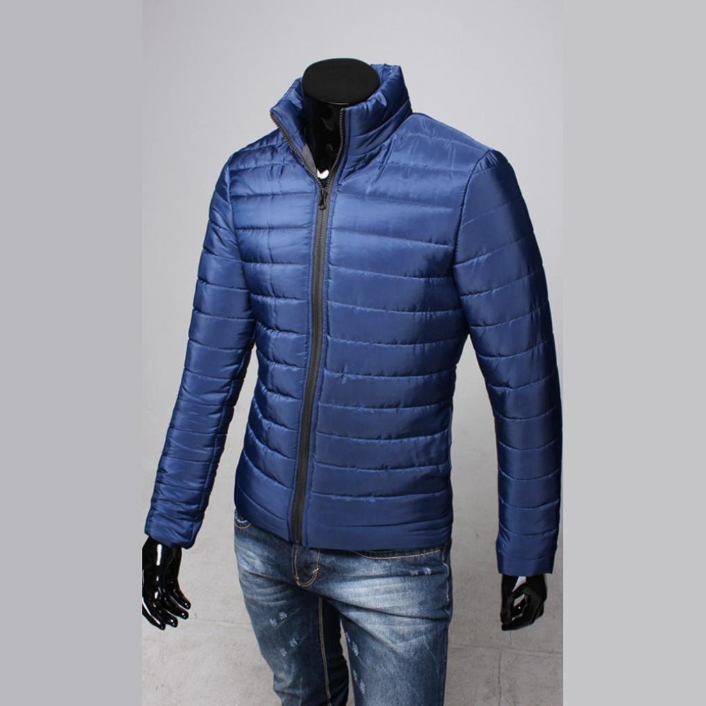 Odejoy Giacca invernale da uomo in cotone con cerniera calda Casuale  Inverno Cappotto spesso Parka Overcoat Manica lunga Felpa con cappuccio  Fashion Jacket ... f2783c71375