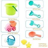NUOLUX 10 Pcs Creative Beach Toys Plastic Bathing Playing Sand Dredging Kids Beach Sandbox Toy Set Playing Toys for Children