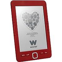 """Woxter Scriba 195 - Lector de libros electrónicos de 6"""" (800 x 600, e-ink pearl pantalla más blanca, EPUB, PDF, micro SD, guarda más de 4000 libros, textura engomada) color rojo"""