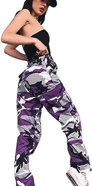 HTDBKDBK Pants Harem Pants, Women Sports Camo Cargo Pants Outdoor Casual Camouflage Trousers Jeans Pants Harem Pants
