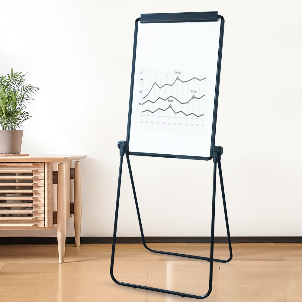 XIWODE MagneticEasel-style Dry Erase Board, Flip Chart Black U-StandWhiteboard, 36 x 24 Inch,Aluminum Framed, with Metal Clipsand Eraser, Foldable WhiteBoard for School, Home, Office by XIWODE (Image #6)