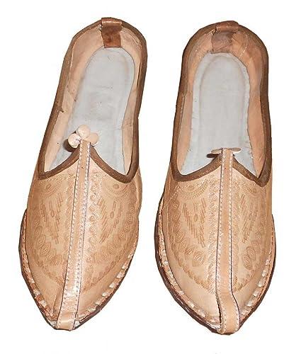 kalra Creations Hombre tradicional indio piel Mocasines Zapatos, color, talla 40.5 EU M