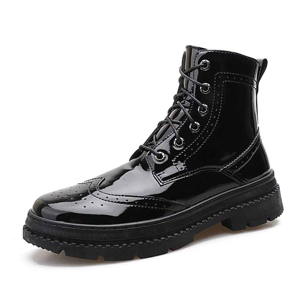 Herrenschuhe, britische High-Top Men ' S Schuhe Fall Breathable Leder Schuhe Mens Patent Leder Glossy Casual schuhe Mode Casual schuhe,A,42
