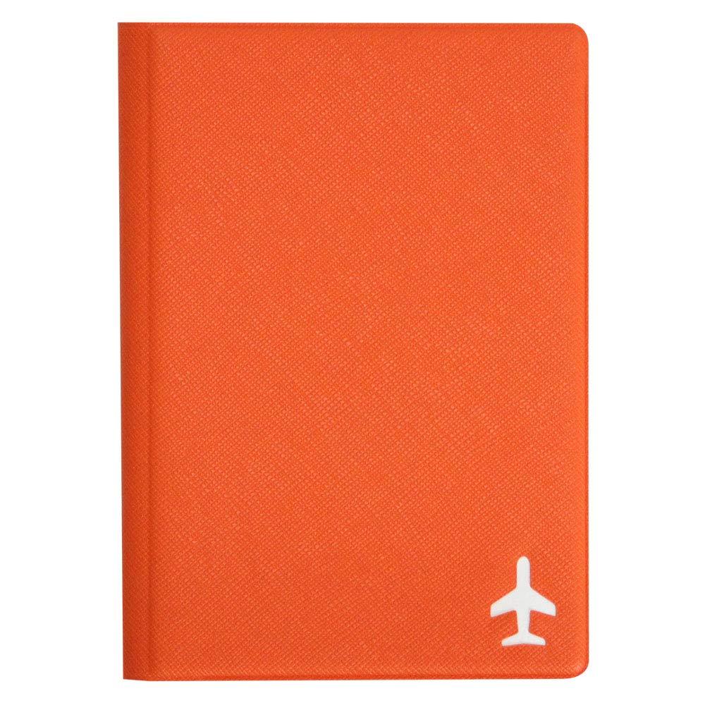 Simple Passport Cover RFID Blocking Small (Orange)