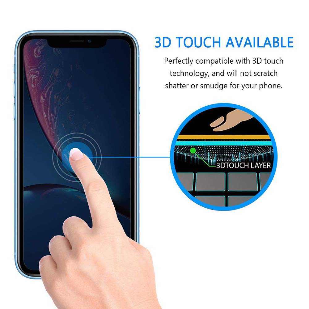 9H Hardness 2Pack Tempered Glass Screen Protector for iPhone XR Bubble Free 3D Touch for iPhone XR Privacy Anti-Spy Tempered Glass Screen Protector,Lostep