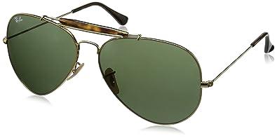 fcca339c08f Ray-Ban Outdoorsman II - Gold Frame Dark Green Lenses 62mm Non-Polarized