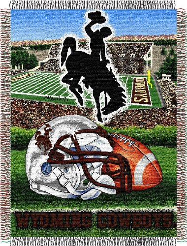 The Northwest Company Officially Licensed NCAA Wyoming Cowboys Home Field Advantage Woven Tapestry Throw Blanket, 48