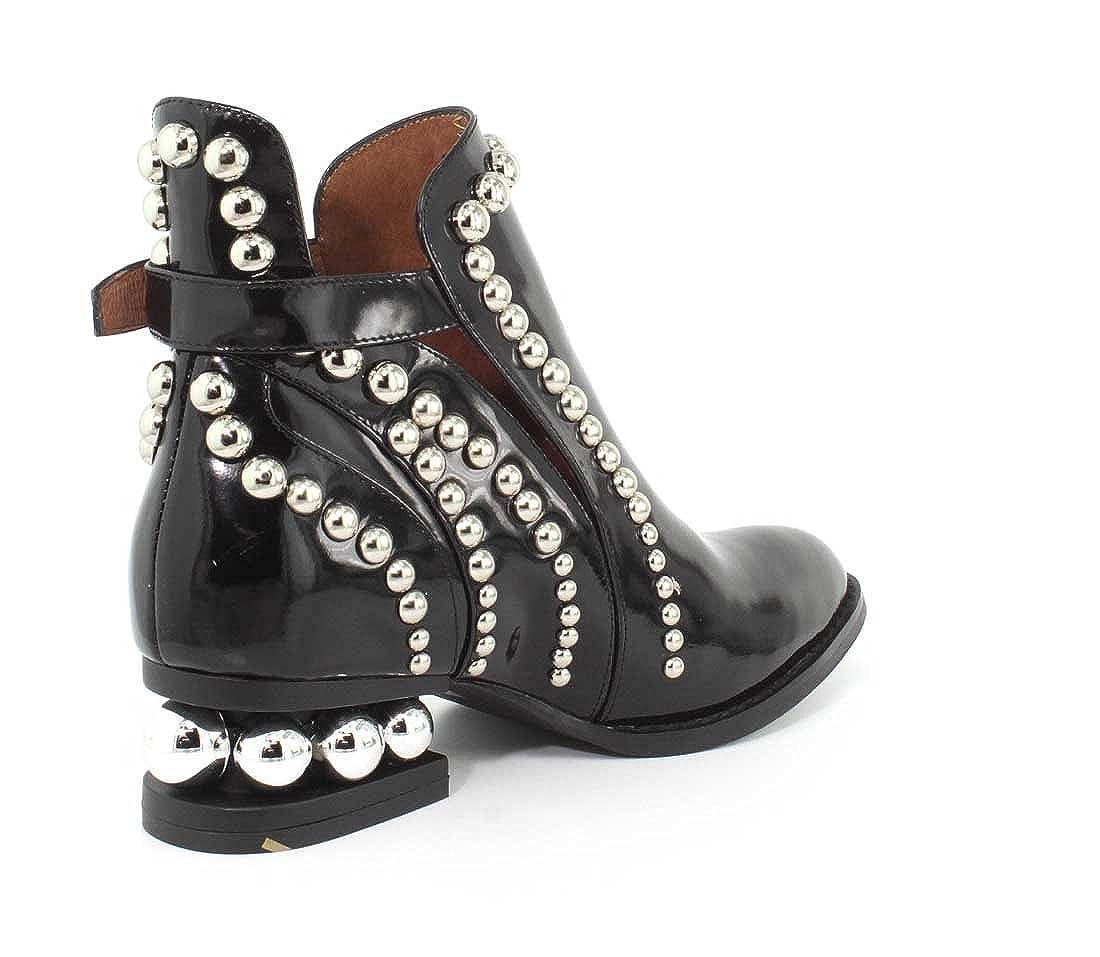 8196dd12829 Jeffrey Campbell Womens Rylance Studded Black Box Silver Boot - 7   Amazon.ca  Shoes   Handbags