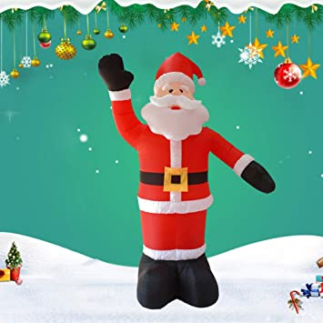 Inflatable Waving Santa Christmas Decoration Outdoor Decor Holiday Time 4 ft