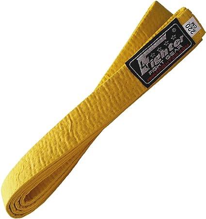 4Fighter Karate Belt//Cintura da Karate in Giallo 220 Centimetri per i Bambini