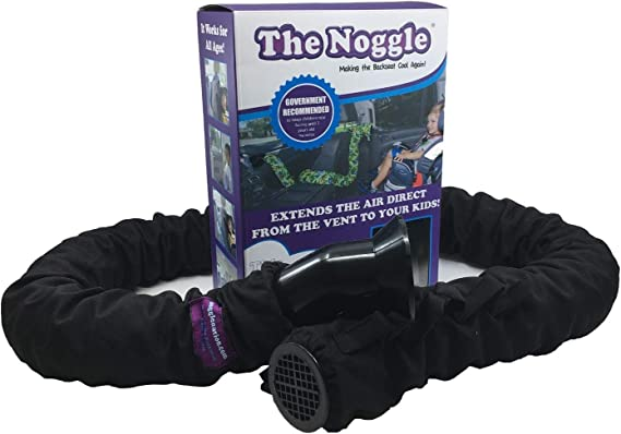 The Noggle - Making the Backseat Cool Again - Vehicle Air Conditioning System to Keep Your Baby / Children Cool and Comfortable When Traveling in the Car - Works with Most Vehicles - 8ft