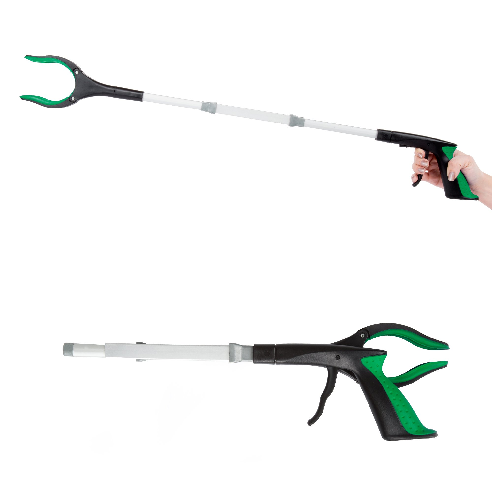 Grabber Reacher with Rubber Grip Handle – 32 Inch Multipurpose Foldable Reaching Assist Claw Arm Extender Tool with Heavy Duty Grip by Bluestone